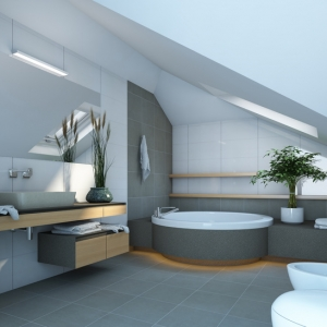 Oak bathroom